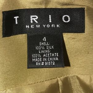 Trio 2 piece Raw Silk Suit NWT